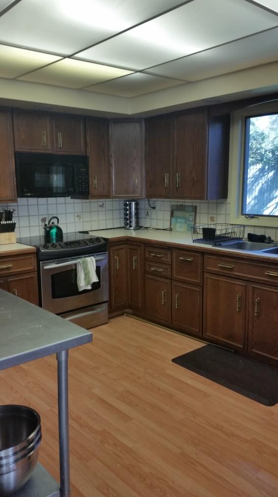 Our kitchen had an ugly cheap backsplash,